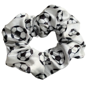 Soccer Premium Velvet Scrunchie - Infinity Collection