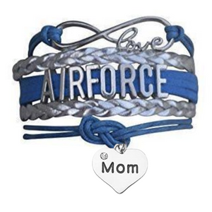 Air force Mom Bracelet  - Pick Charm - Infinity Collection