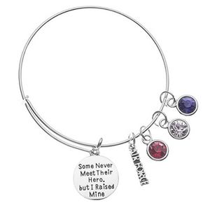 Air Force Mom Bracelet - Raised Hero - Infinity Collection