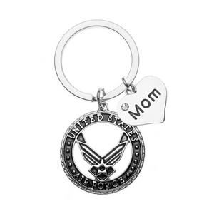 Personalized USA Air Force Keychain - Pick Charm - Infinity Collection