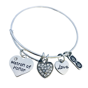 Matron of of Honor Charm Bracelet - Infinity Collection