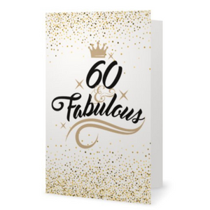 60th Birthday Card - Fabulous and Sixty