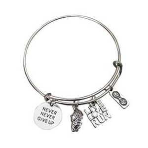Runner Bangle Bracelet- Never Give Up - Infinity Collection