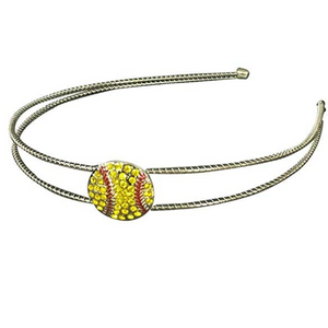 Softball Rhinestone Headband - Infinity Collection