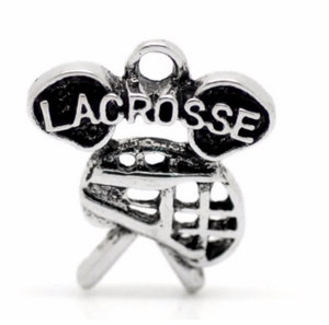 Lacrosse Helmet & Stick Charm - Infinity Collection