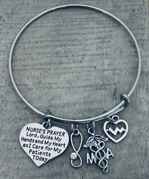 Medical Assistant Bracelet - Nurse Prayer Jewelry - Infinity Collection