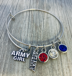 Army Girl Charm Bracelet - Infinity Collection