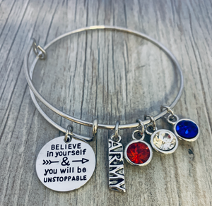 Army Charm Bracelet - Believe In Yourself - Infinity Collection