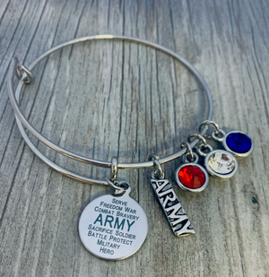Army Charm Bracelet - Infinity Collection