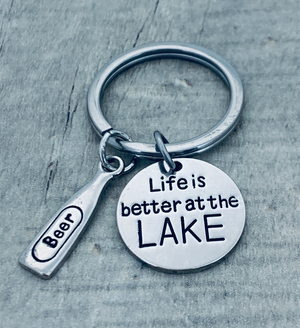 Life is Better at the Lake Keychain, Lake Jewelry - Infinity Collection
