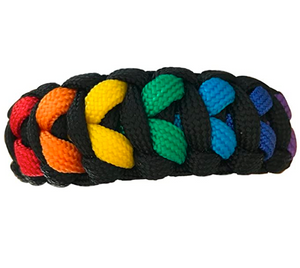 Gay Pride Bracelet - LGBT Paracord Bracelet, Gay Pride Jewelry, Rainbow Pride Bracelet & Perfect Gay Pride Gifts - Infinity Collection