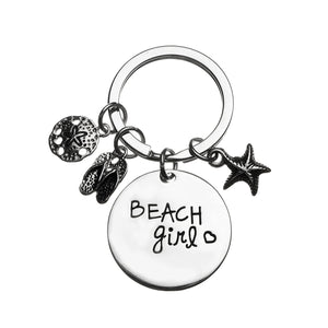 Beach Girl Keychain, Beach Jewelry, Gift for Beach Girls - Infinity Collection