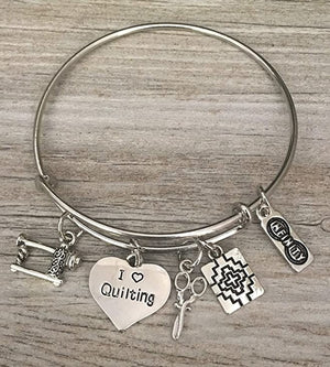 womens Quilting Charm Bracelet