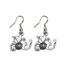 Golf Charm Earrings - Infinity Collection