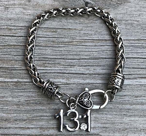13.1 Half Marathon Runner Charm Bracelet - Infinity Collection