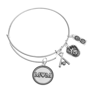 Softball Mom Bangle Bracelet - Infinity Collection