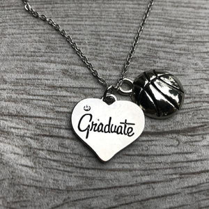 Basketball Graduate Charm Necklace - Infinity Collection