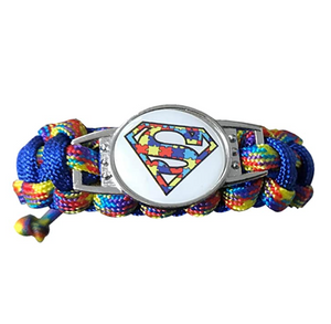 Autism Paracord Bracelet, Unisex Youth/Kids Autism Awareness Jewelry - Infinity Collection