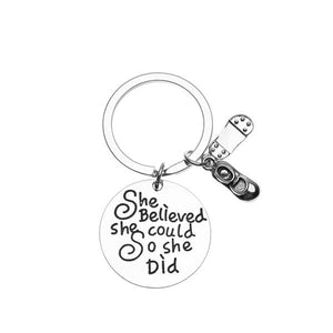 Tap Dance Keychain - She Believed She Could So She Did - Infinity Collection