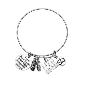 Tap Dance Teacher Bangle Bracelet - Infinity Collection