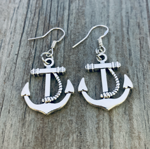 Anchor Dangle Earrings - Infinity Collection