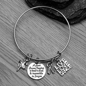 Dance Teacher Bracelet - Great Teacher is Hard to Find - Infinity Collection