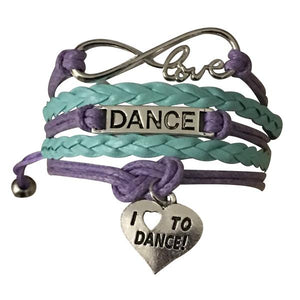 Dance Bracelet - Purple & Teal - Infinity Collection