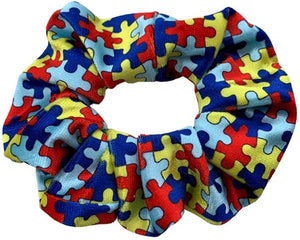 Autism Scrunchie, Autism Accessories, Autism Puzzle Piece Hair Ties Makes the Perfect Autism Gift - Infinity Collection
