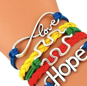 Autism Bracelet, Autism Hope Awareness Jewelry, Autism Puzzle Piece Bracelet Makes the Perfect Gift - Infinity Collection