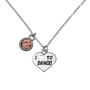 Girls Pink Love To Dance Necklace - Infinity Collection