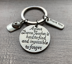 Hip Hop Dance Great Teacher is Hard to Find Keychain - Infinity Collection