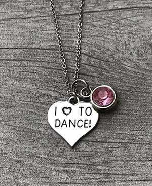Love to Dance Birthstone Necklace - Infinity Collection