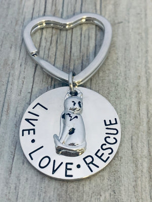 Cat Rescue Keychain, Live Love Rescue - Infinity Collection