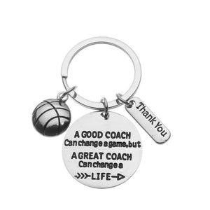 Basketball Coach Keychain - Change a Life - Infinity Collection