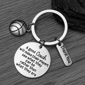 Basketball Coach Keychain - Infinity Collection
