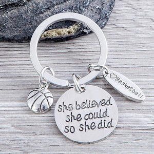 Basketball She Believed She Could So She Did Keychain & Card Gift Set - Infinity Collection