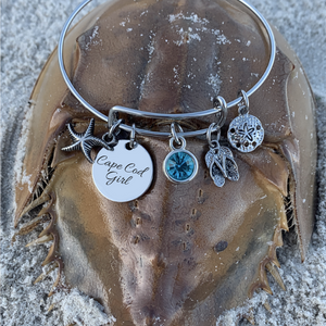 Personalized Engraved Beach Bracelet, Beach Jewelry, Gift for Beach Girls - Infinity Collection