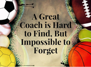 Basketball Coach- Great Coach is Hard to Find Coach Keychain - Infinity Collection