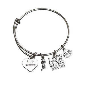 Girls Swim Bangle Bracelet - Infinity Collection