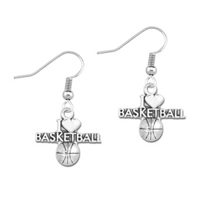 I Love Basketball Earrings - Infinity Collection