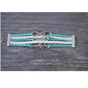 Girls Dance Infinity Bracelet- Teal - Infinity Collection