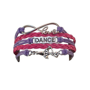 Girls Dance Infinity Bracelet Pink & Purple - Infinity Collection