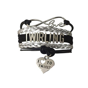 Twirling Bracelet-Black - Infinity Collection