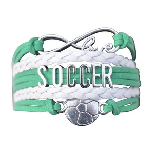Soccer Infinity Bracelet - Green - Infinity Collection