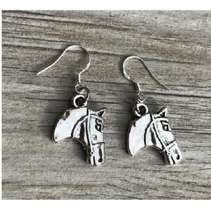 Horse Head Charm Earrings - Infinity Collection