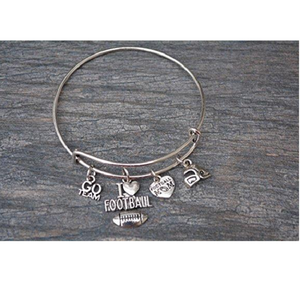 Football Mom Bangle Bracelet - Infinity Collection