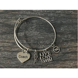 Swim Coach Bangle Bracelet - Infinity Collection