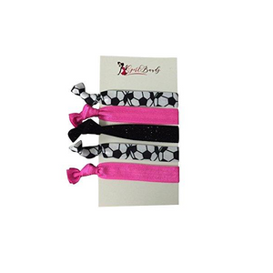 Soccer Hair Ties - Pink - Infinity Collection