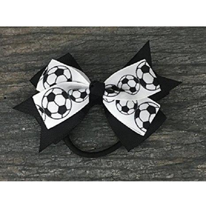 Soccer Hair Bow - Infinity Collection