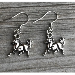 Horse Charm Earrings - Infinity Collection